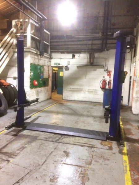 Used Tecalmit 2 Post Lift – AGS Garage Equipment